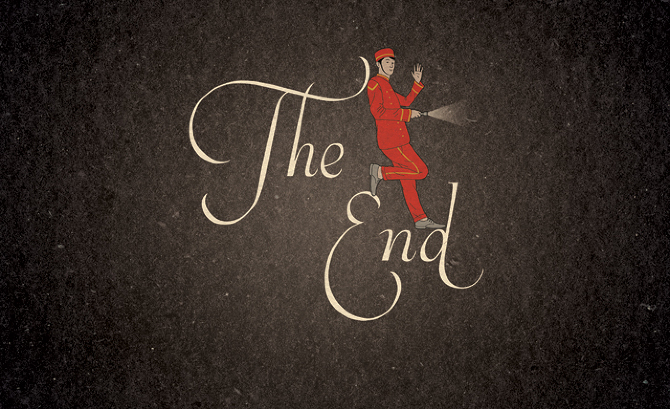 The End - robbie porter illustration: www.robbieporter.co.uk/The-End