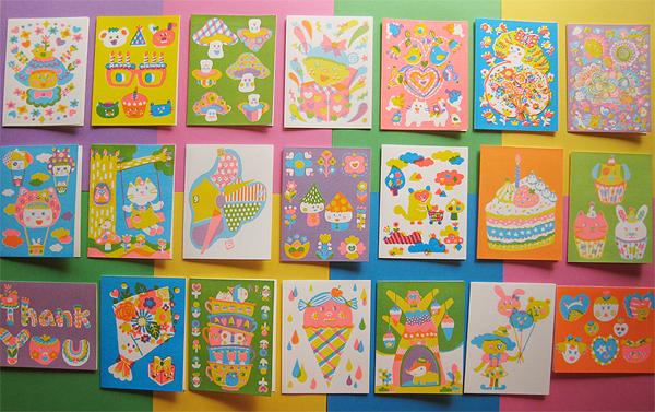 Hand screen printed greeting cards sue jean ko m4hsunfo